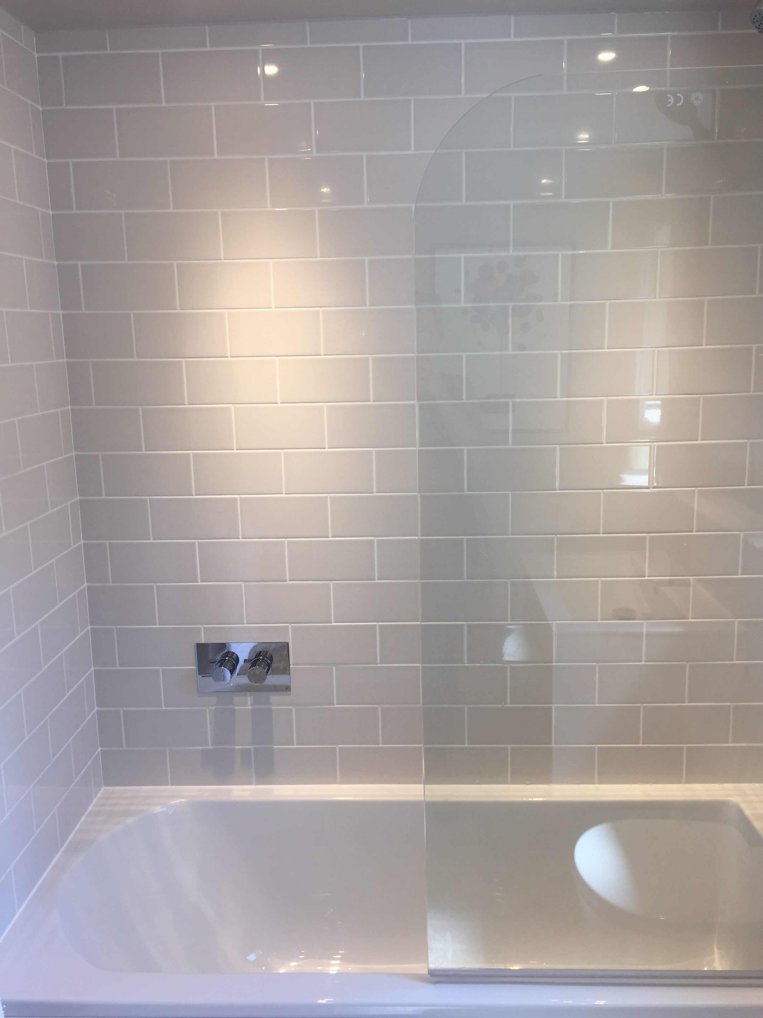 Bathroom renovation completed kate sadler i selected soft grey patterned floor tiles by laura ashley to bring a bit of fun and interest to the floor i didnt choose gloss for the floor as i wanted dailygadgetfo Choice Image